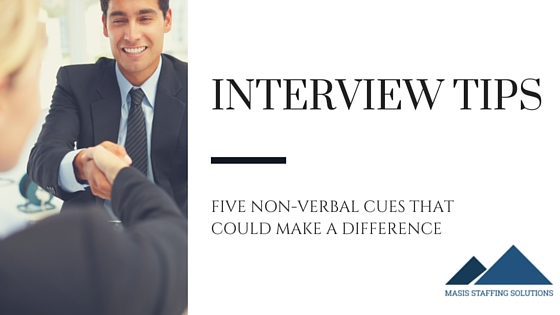 non verbal interview tips