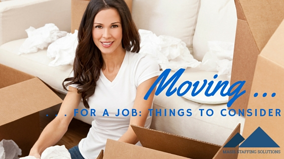 Moving for a job
