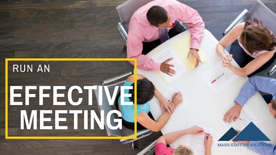 Run an Effective Meeting