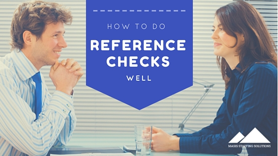 do reference checks well