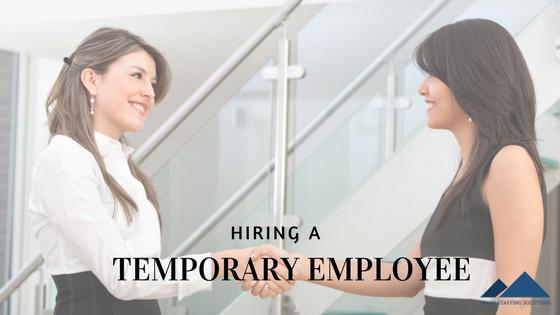 hiring a temporary employee